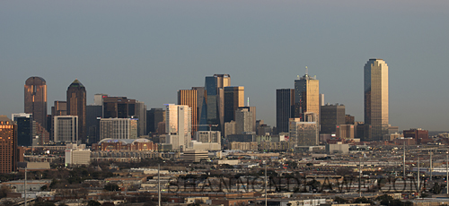 Photograph of the Dallas Texas Skyline in Winter of 2011