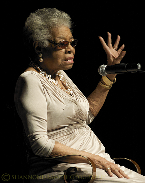 Maya Angelou speaks at Texas Womans University
